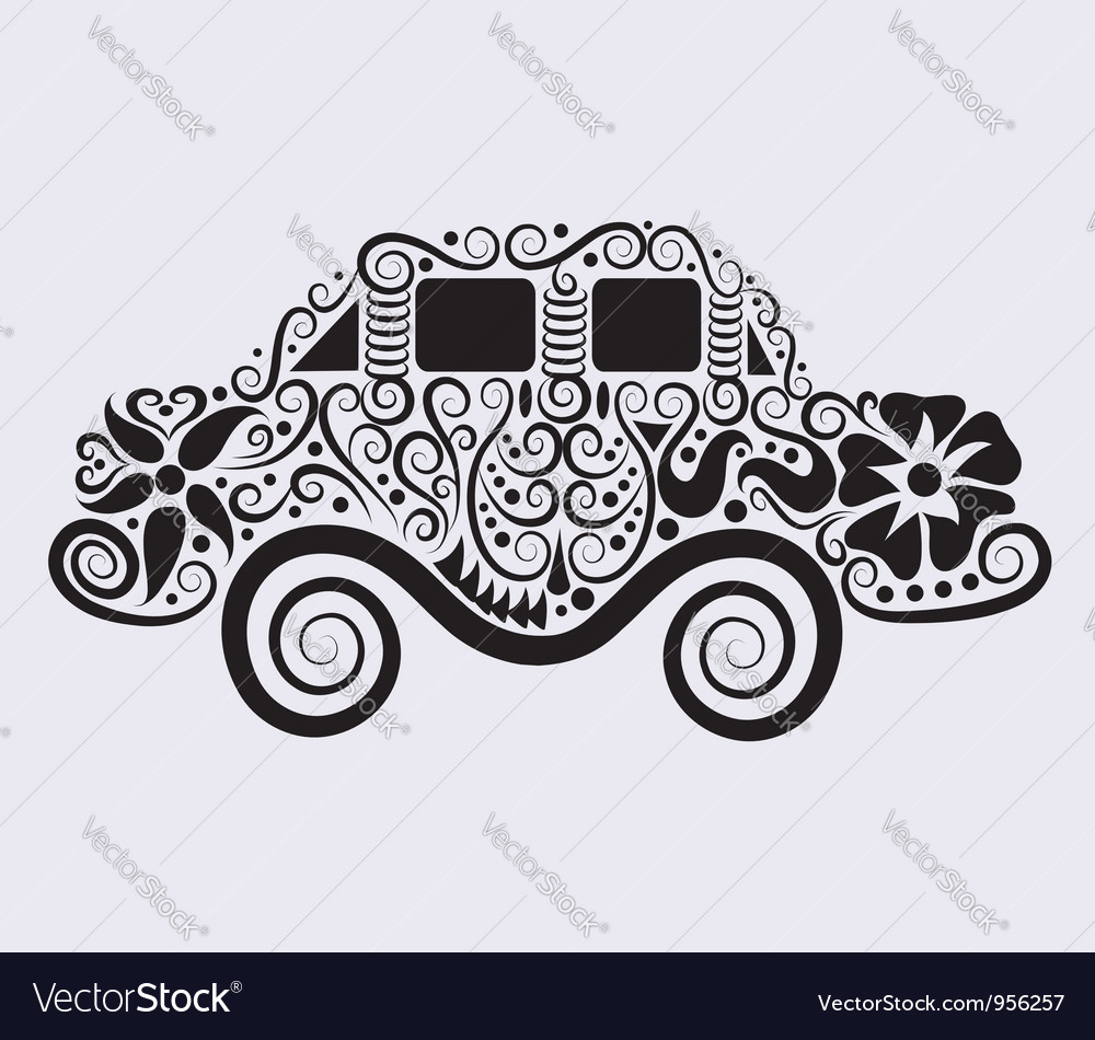 Car ornament vector