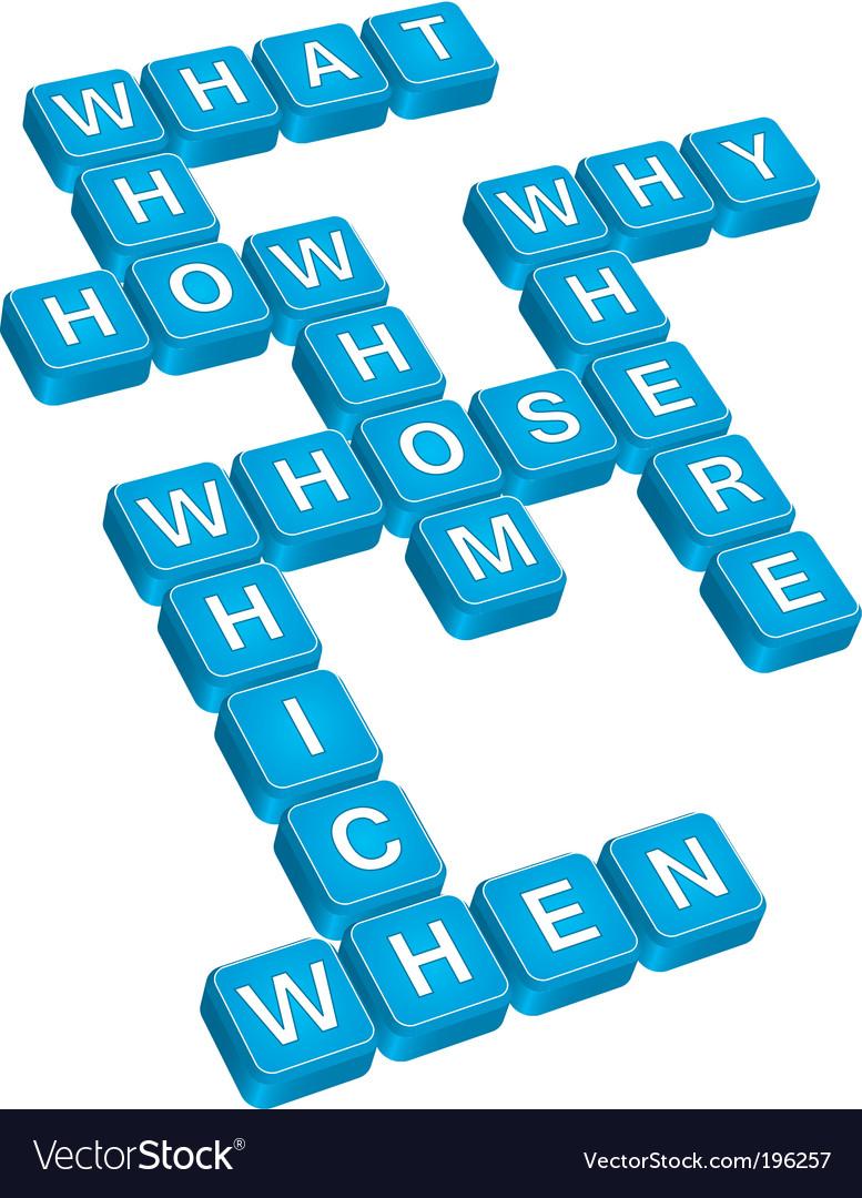 Questions crossword vector