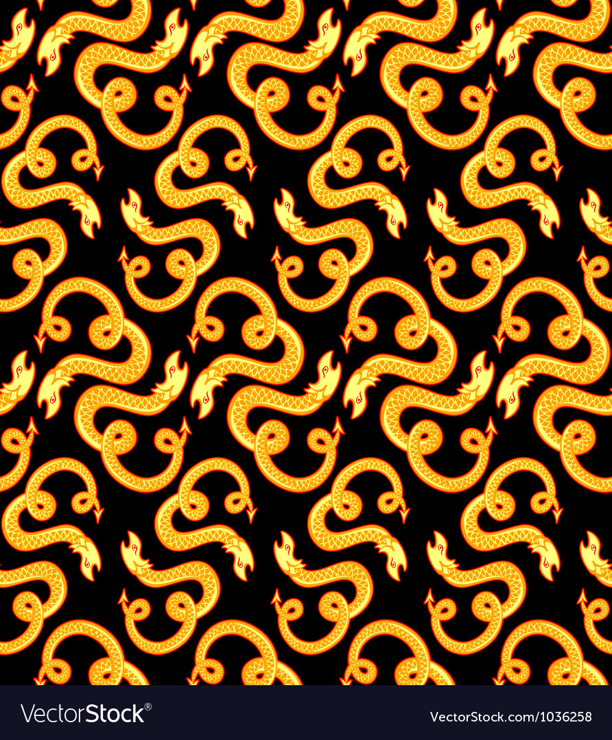 Retro snakes pattern vector