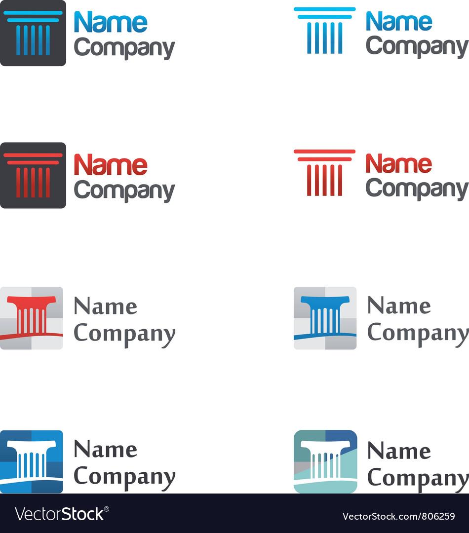 Logo icon set vector