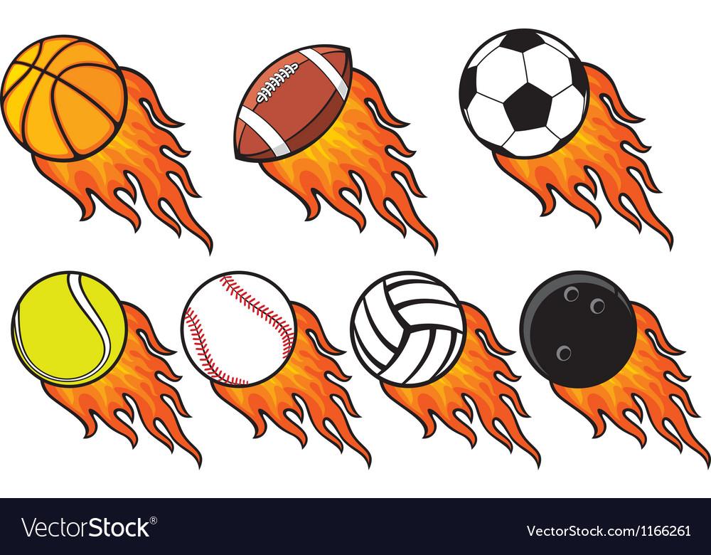 Fire ball collection vector