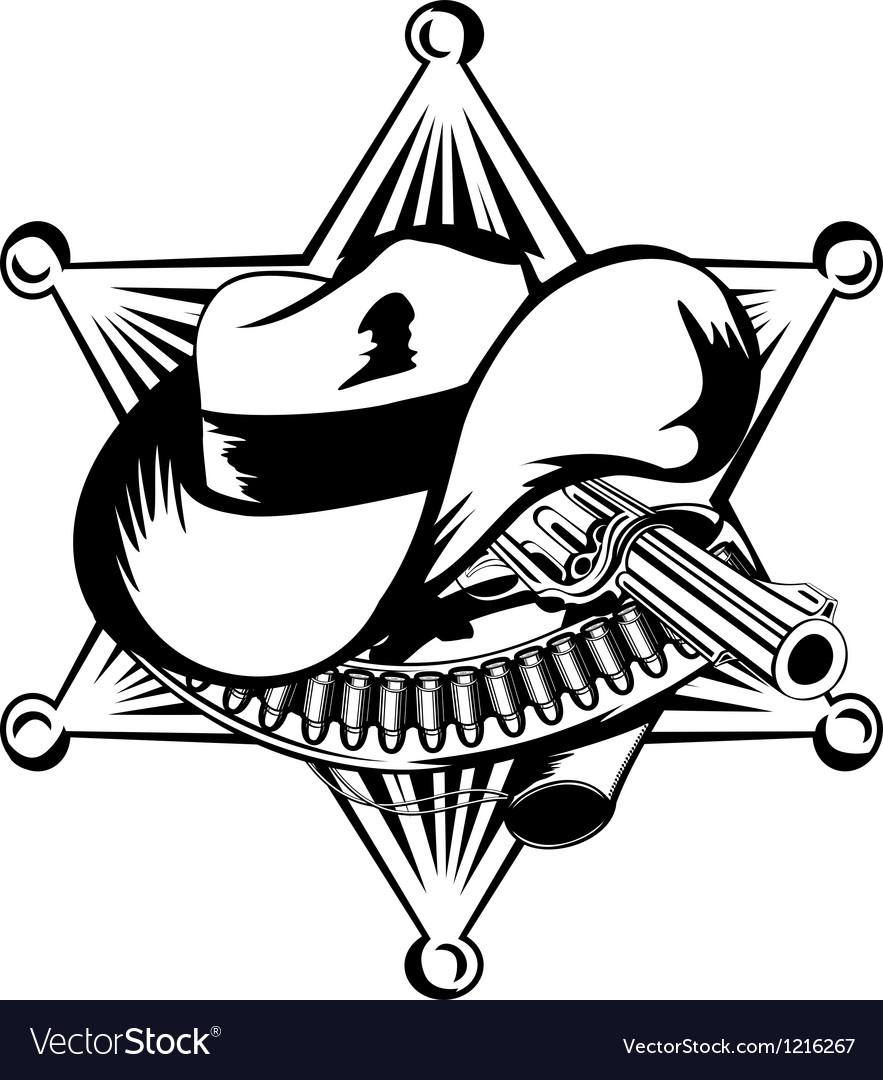Sheriffs star vector