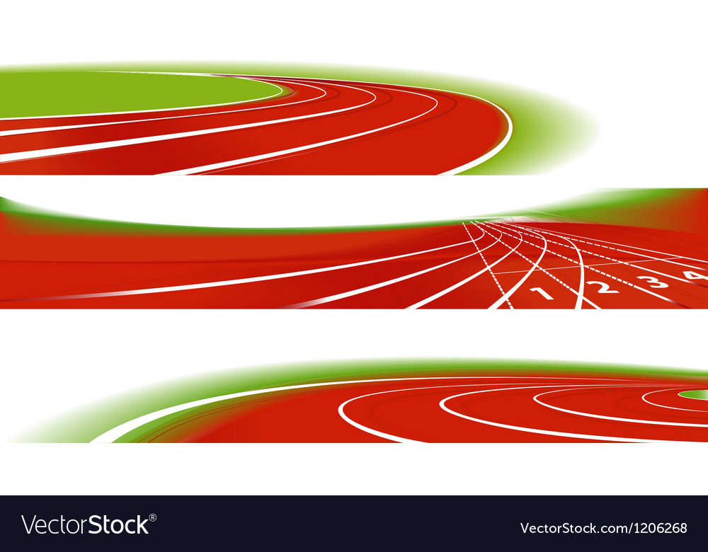 Sport athletic banners vector