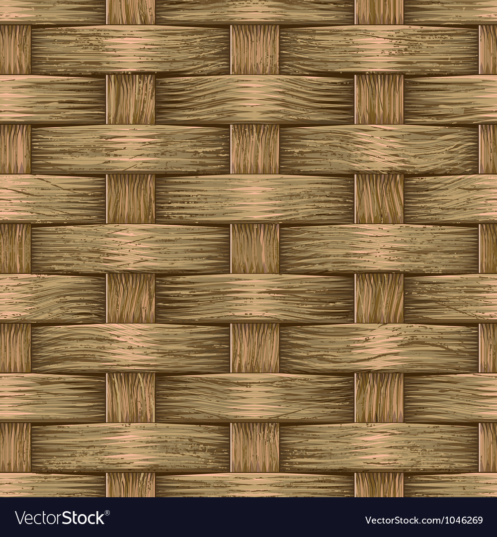 Vintage wooden basket vector