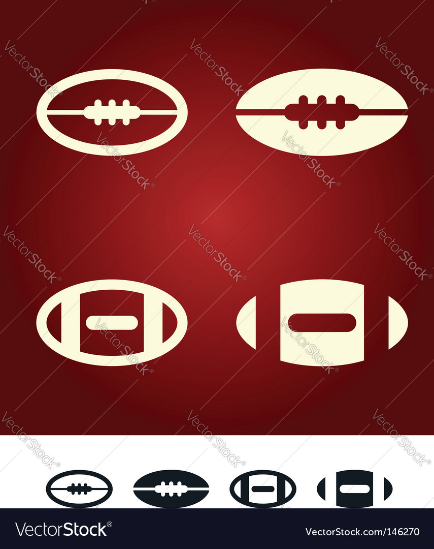 American football sign vector