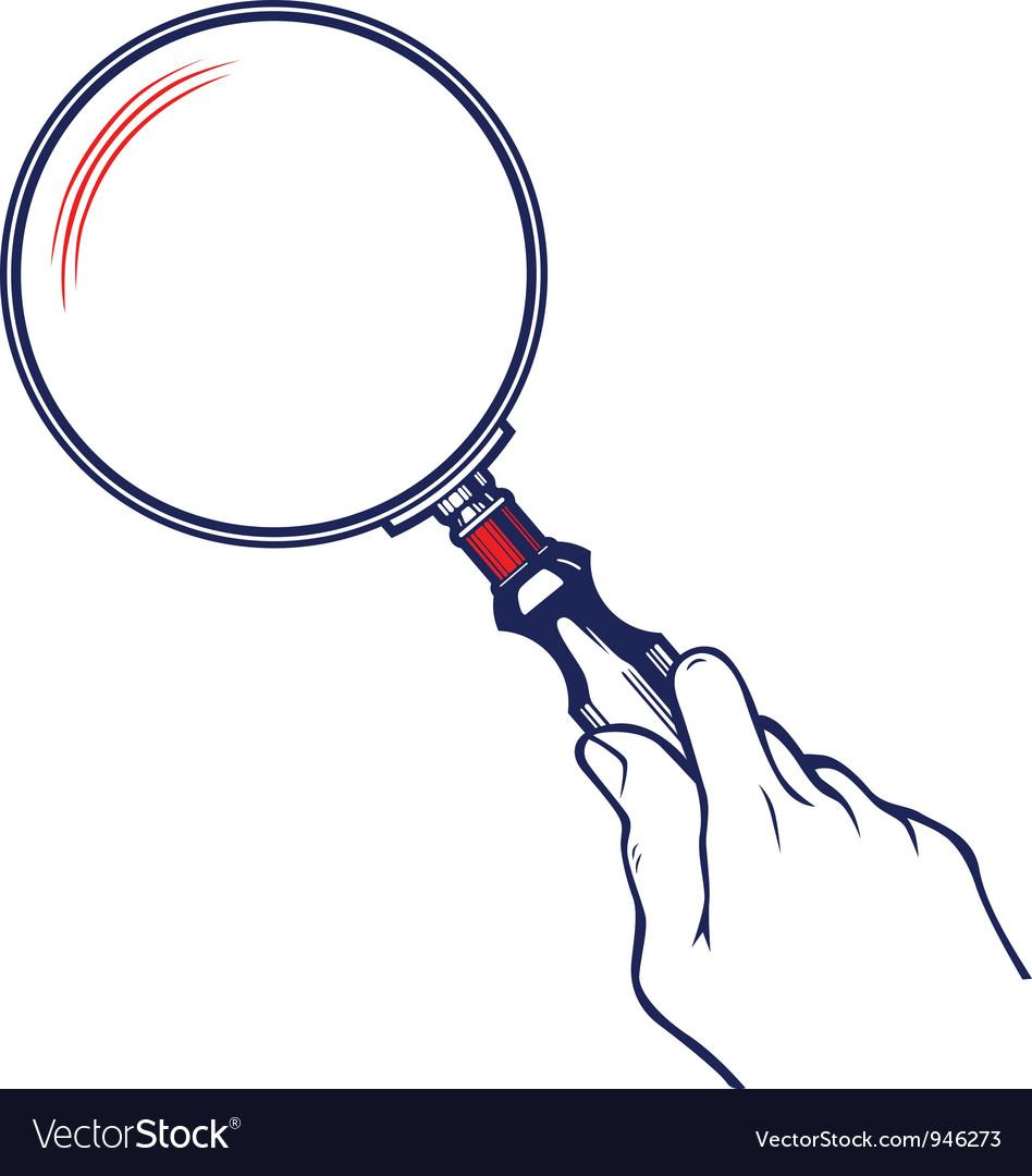 Zoom magnifier vector