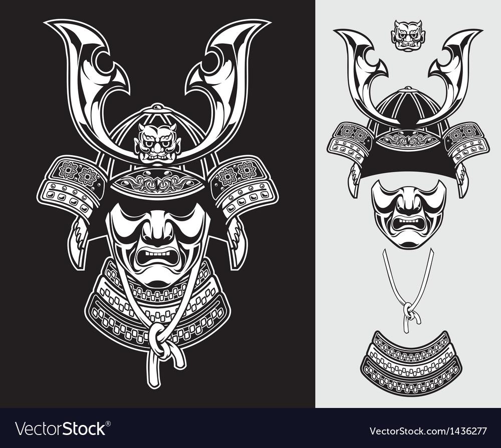Detailed samurai armor vector