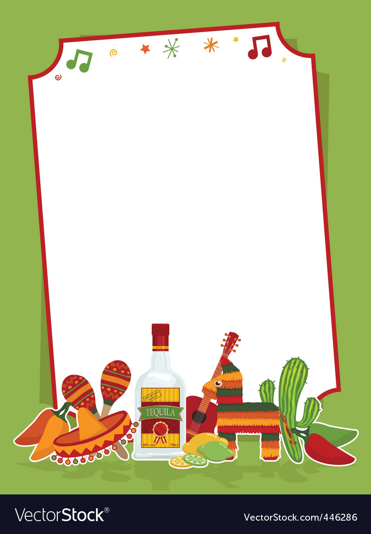 Mexican party sign vector
