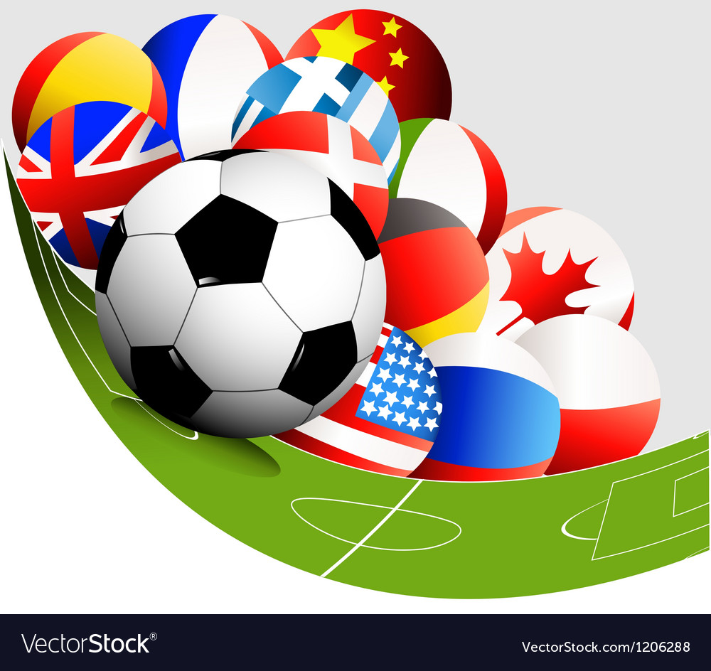 Abstract football background vector