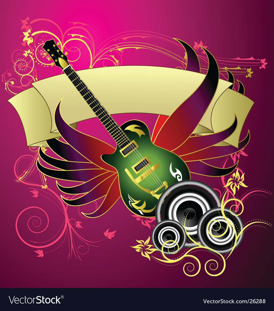 Music banner design vector
