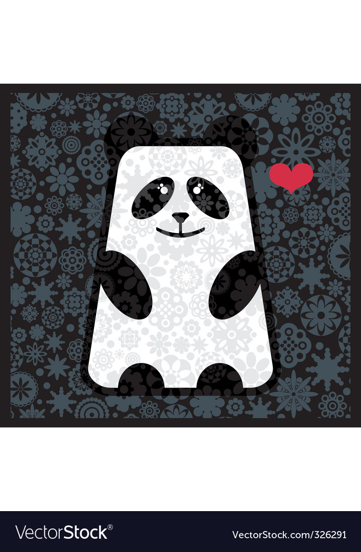 Panda love vector