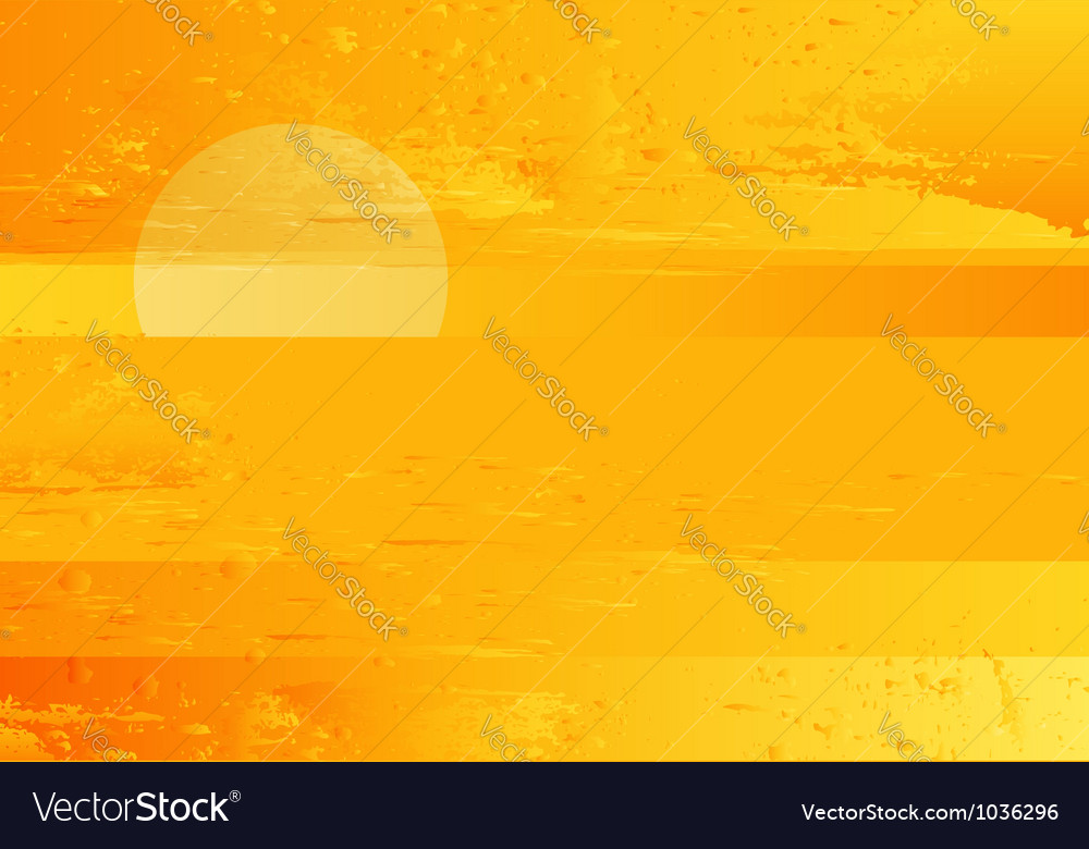 Abstract sunset sea grunge background vector