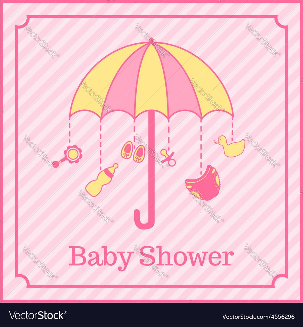 baby shower invitation vector by los ojos pardos image 4556296