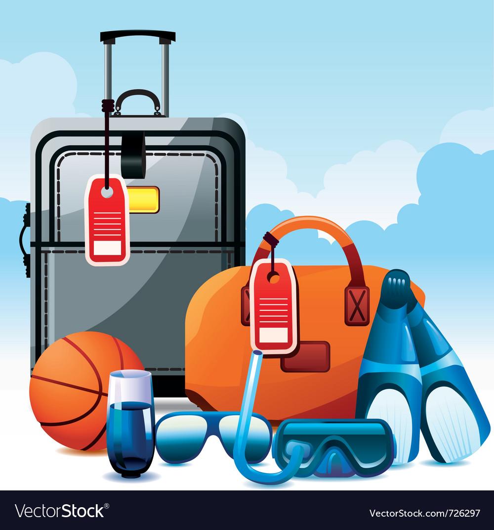 Vacation icon set vector