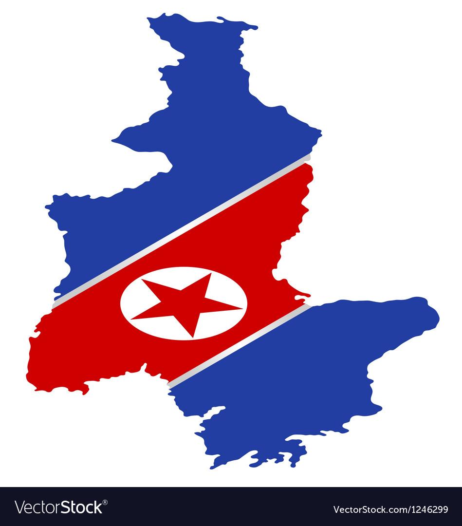 Free north korea flag vector