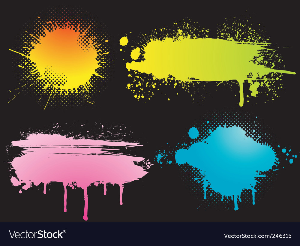 Color blots vector