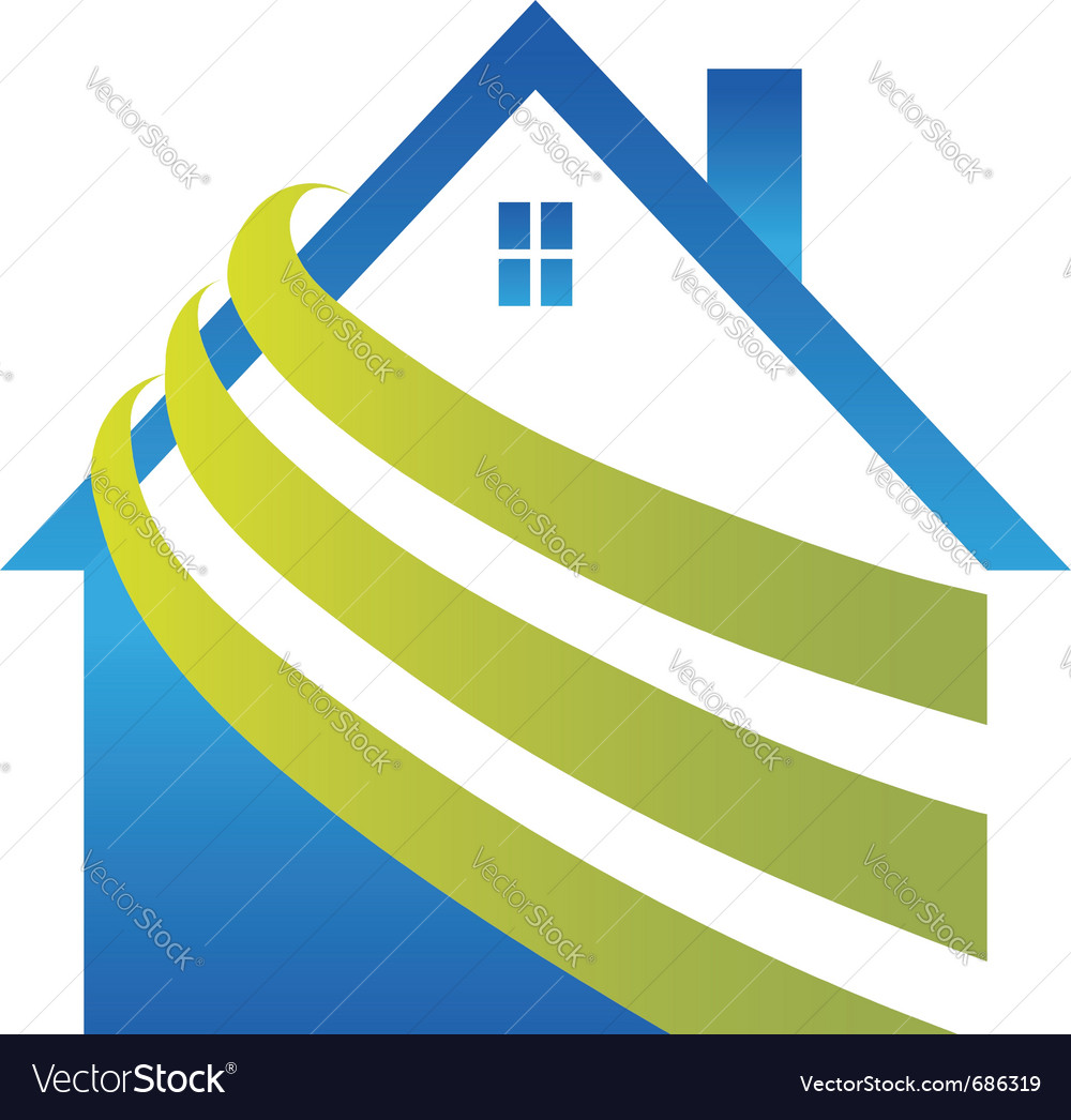 House with stripes vector