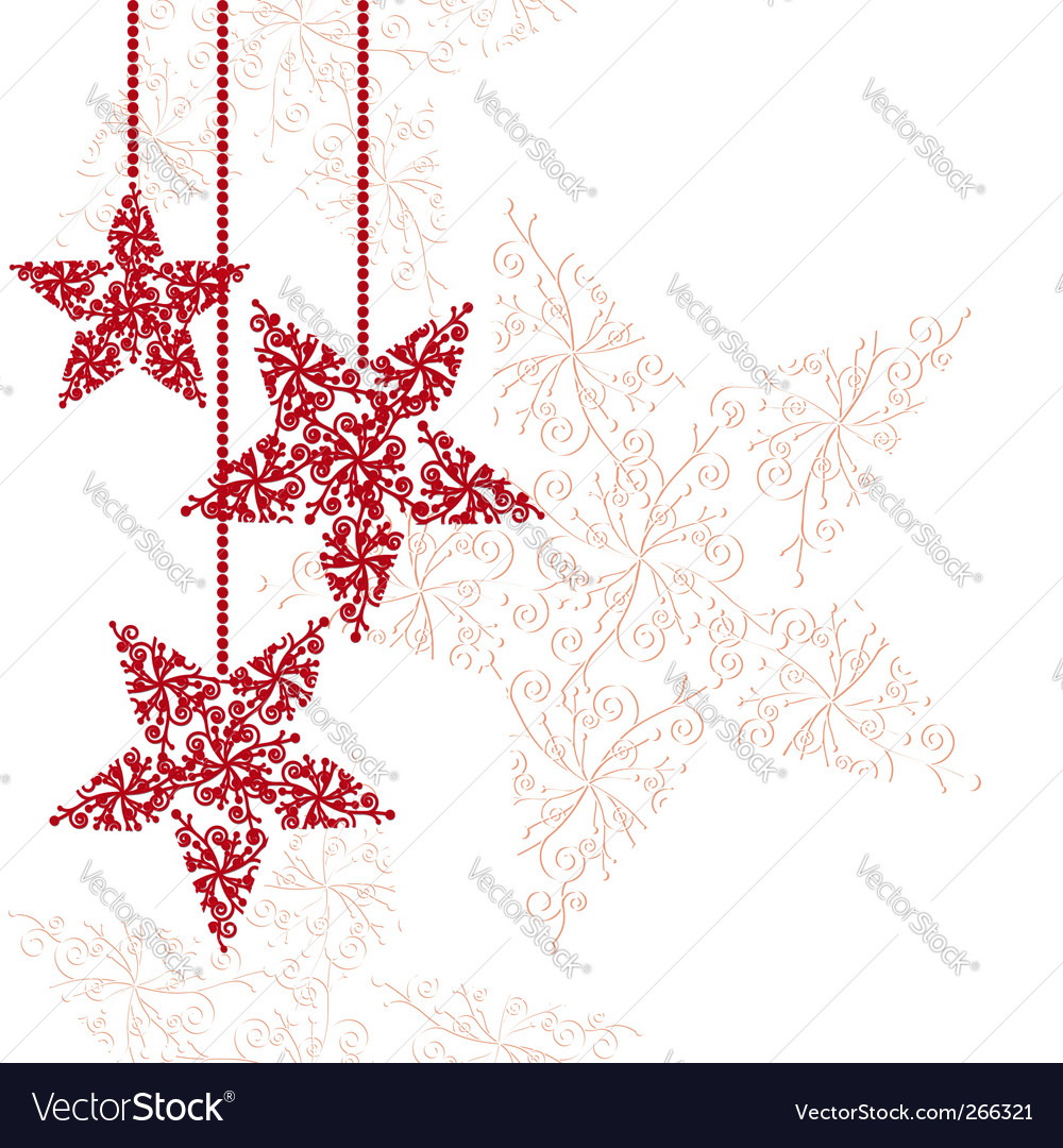 Christmas star vector by meikis - Image #266321 - VectorStock