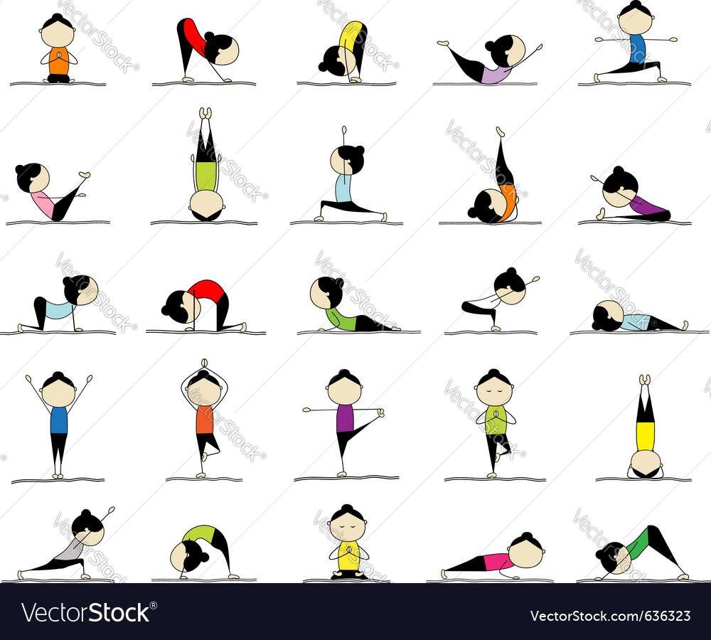 Yoga practices vector