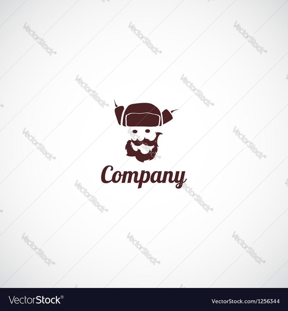Ushanka man company logo vector