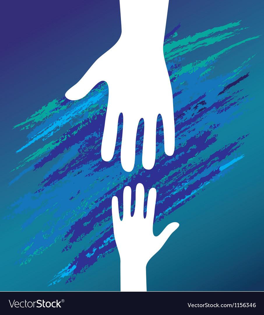 Hand helping vector