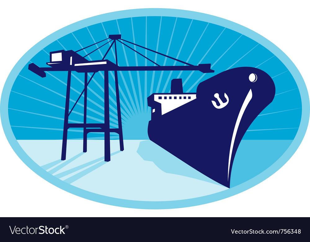 Container boom crane vector