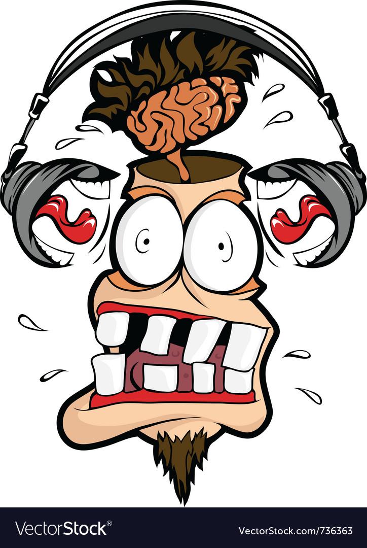 Deadly loud headphones vector