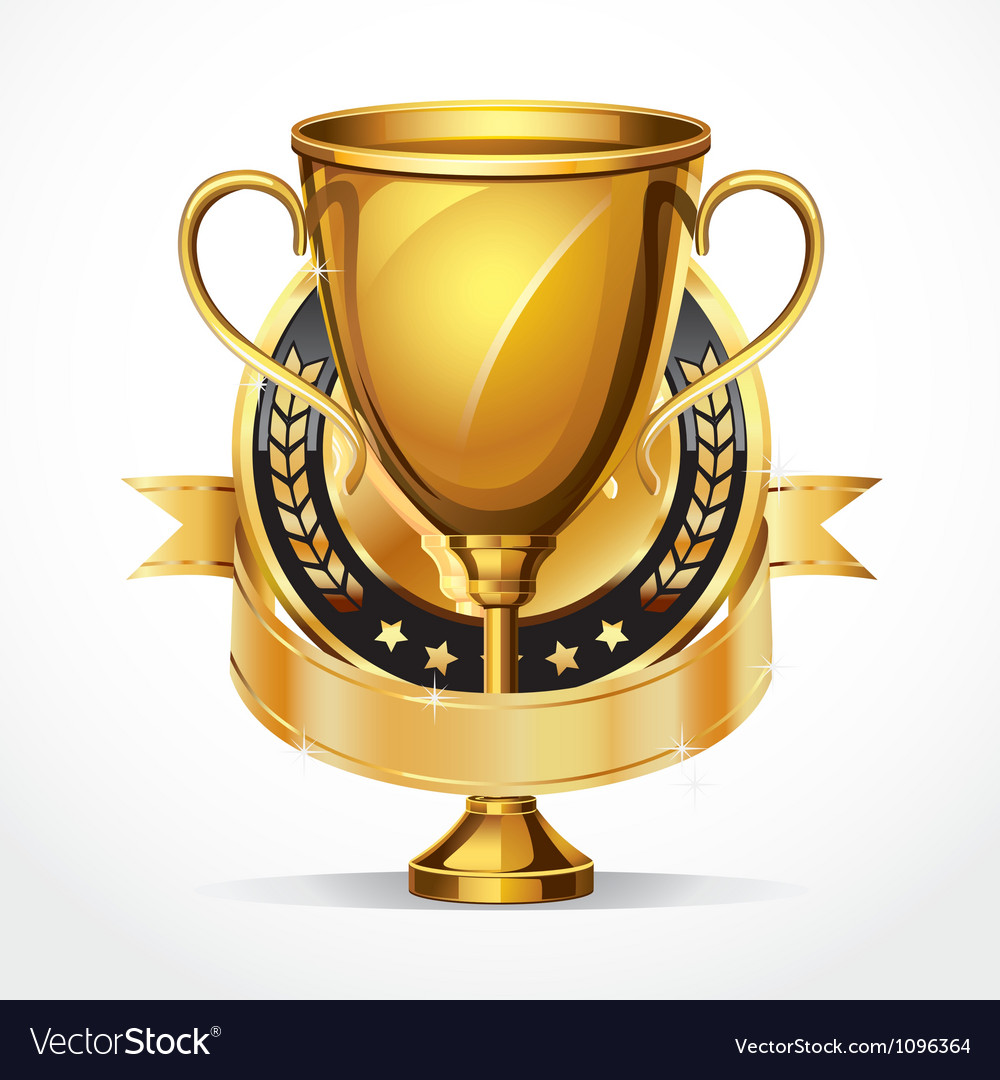 Trophy cup set vector