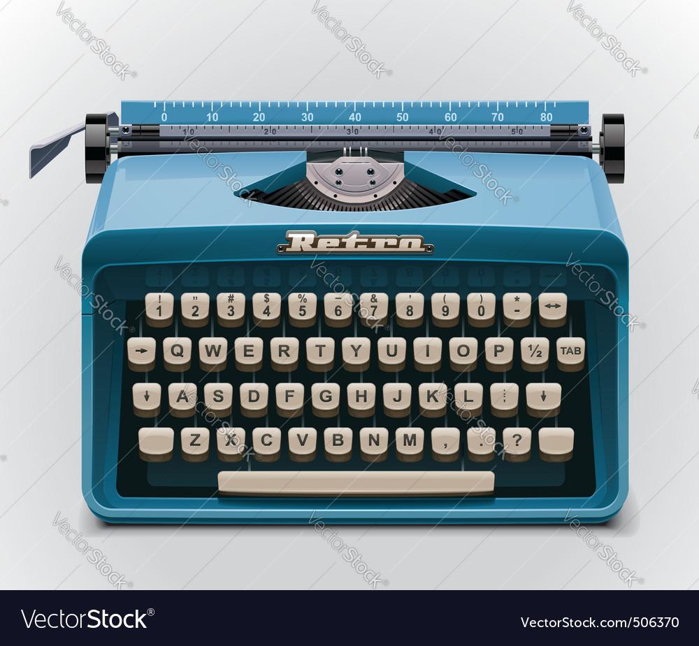 typewriter xxl icon vector
