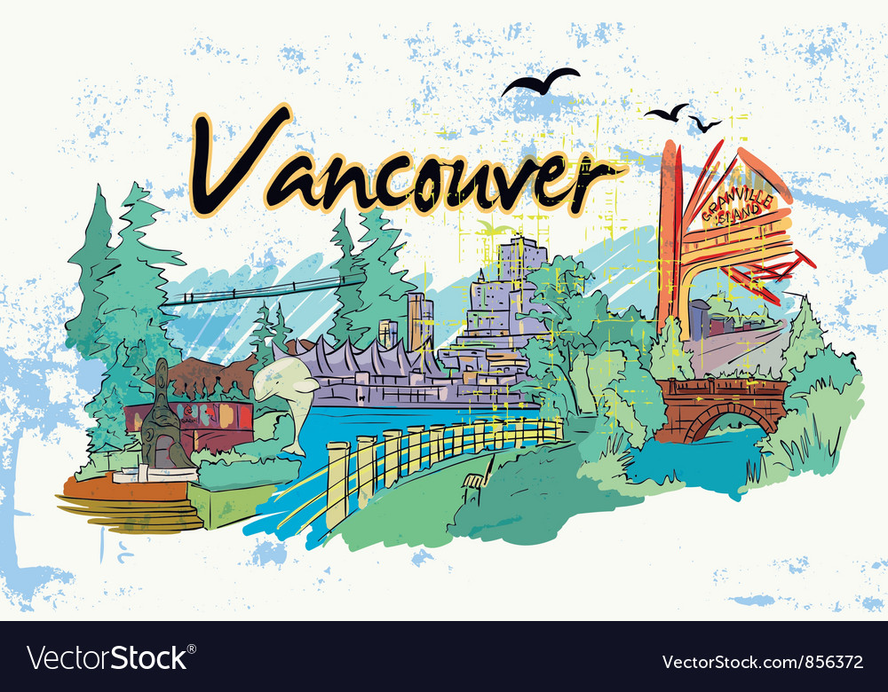 Vancouver doodles vector