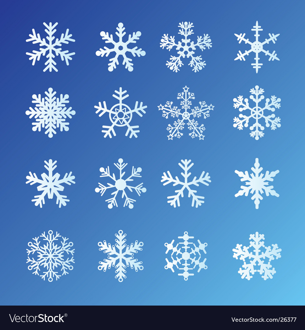 Snowflakes blue vector