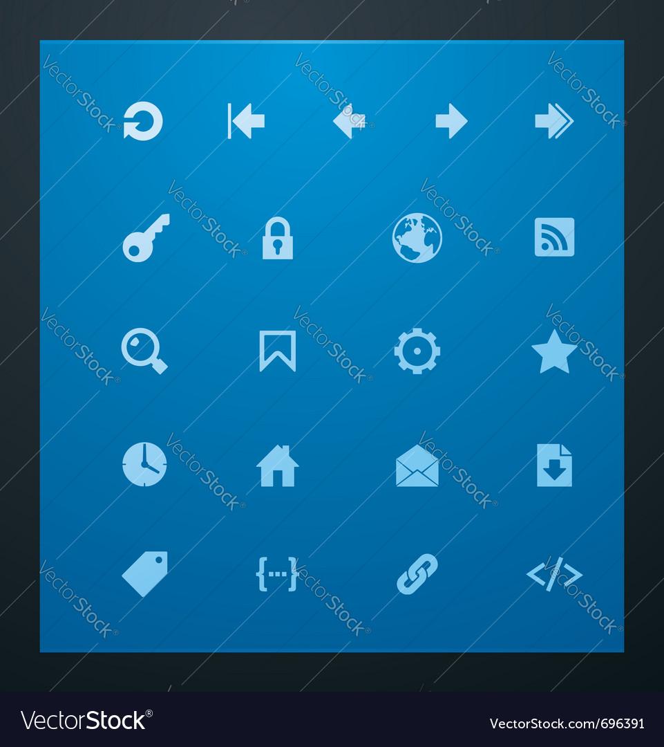 Universal glyphs 7 web icons vector
