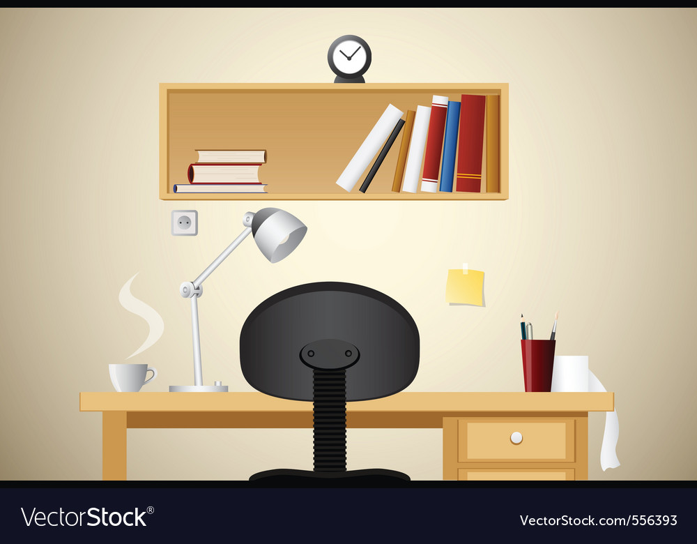 Working desk vector