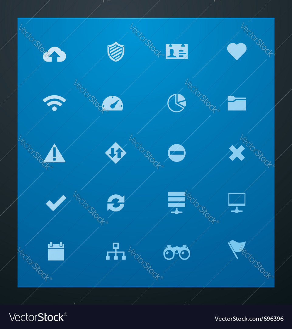 Universal glyphs 8 web icons vector