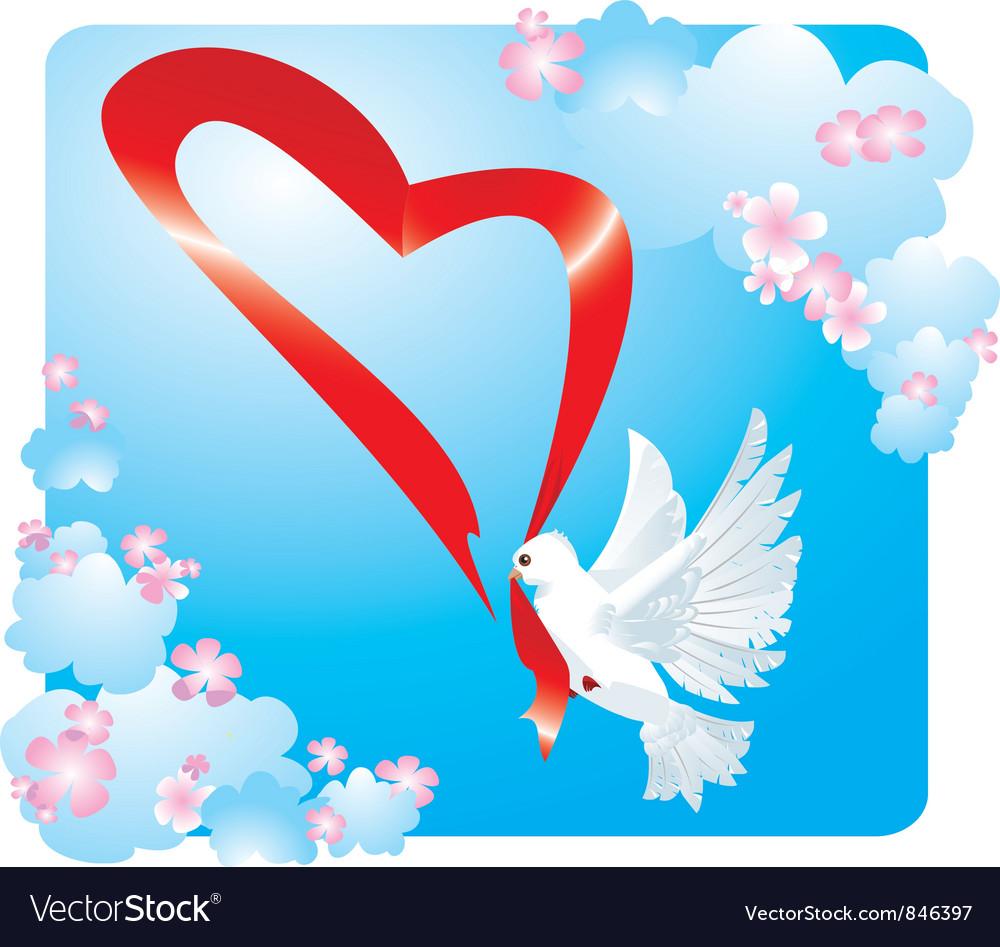 Valentine postcard vector