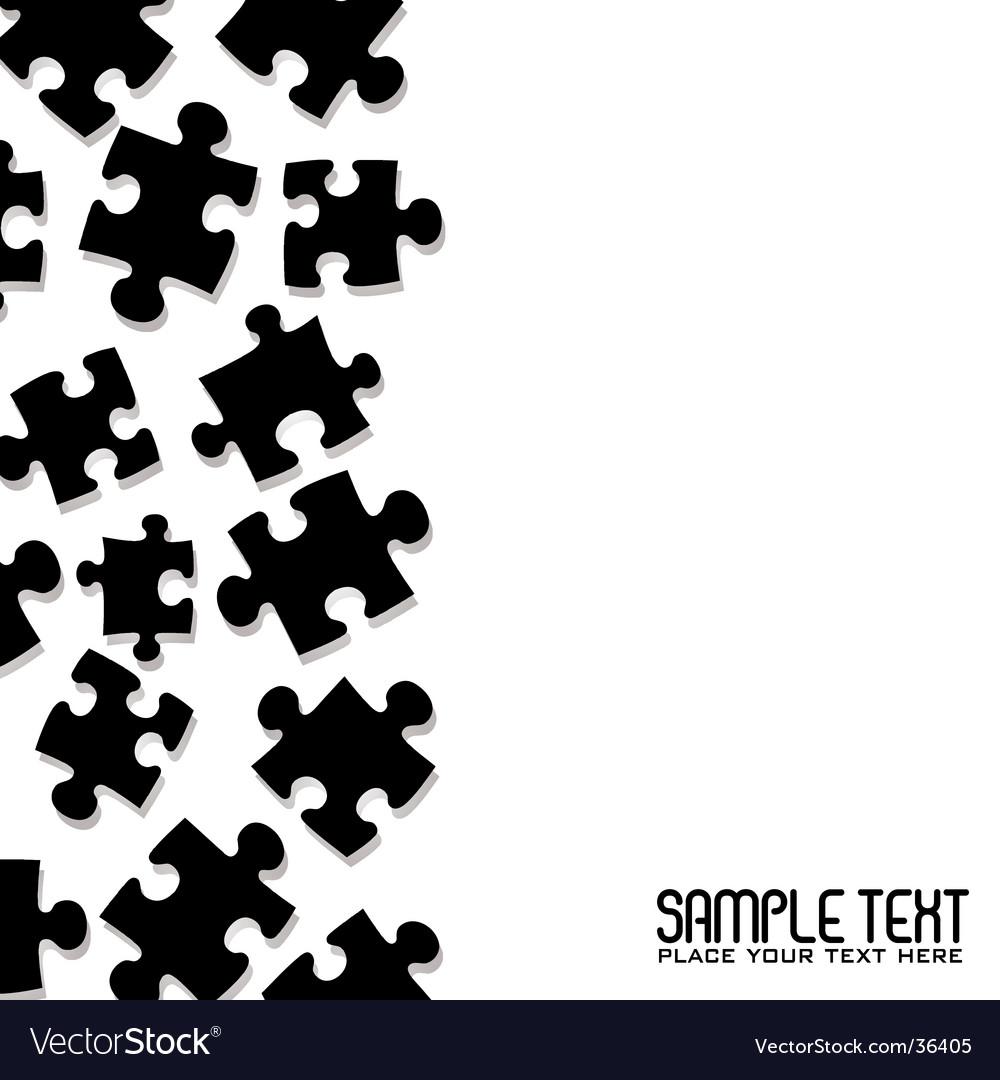 Puzzle border vector
