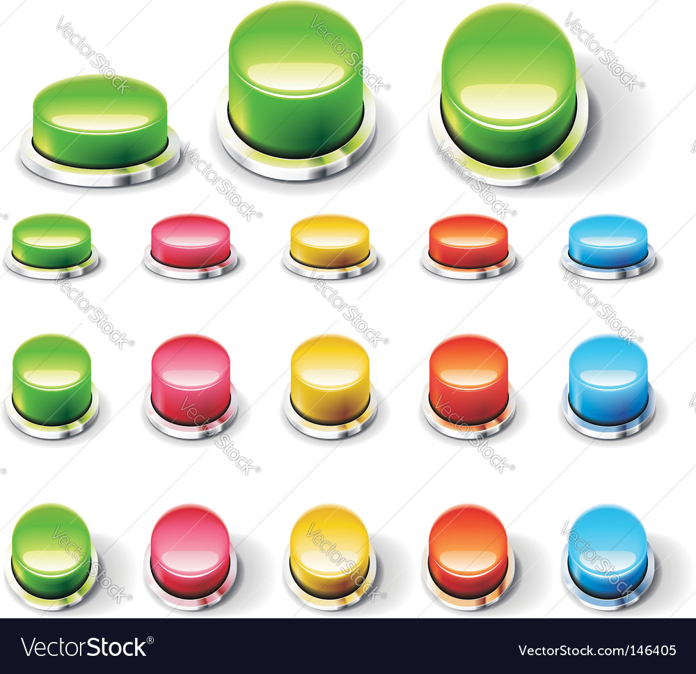 Set of glossy empty buttons vector