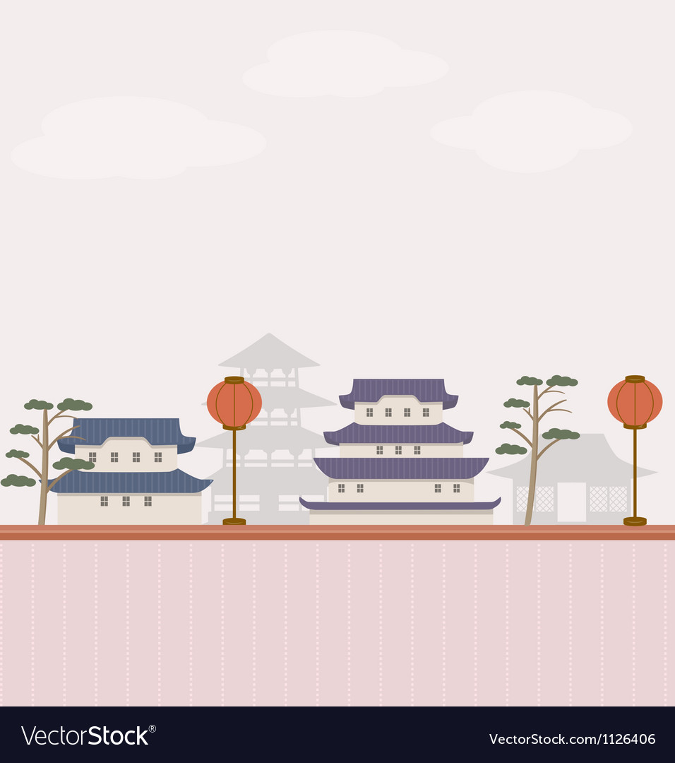 Asian background vector