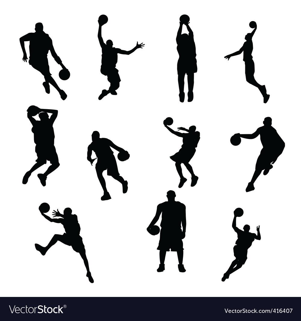 Sportsmen silhouettes vector