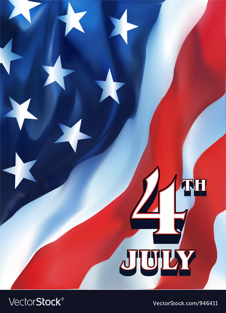 4th july flag vector
