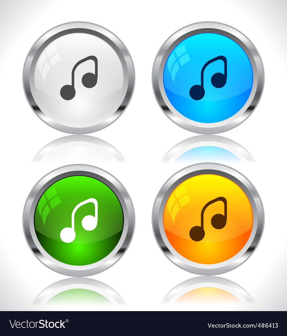 Metal web buttons vector
