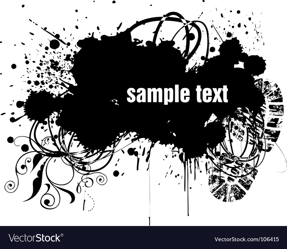 Grunge copy-space vector