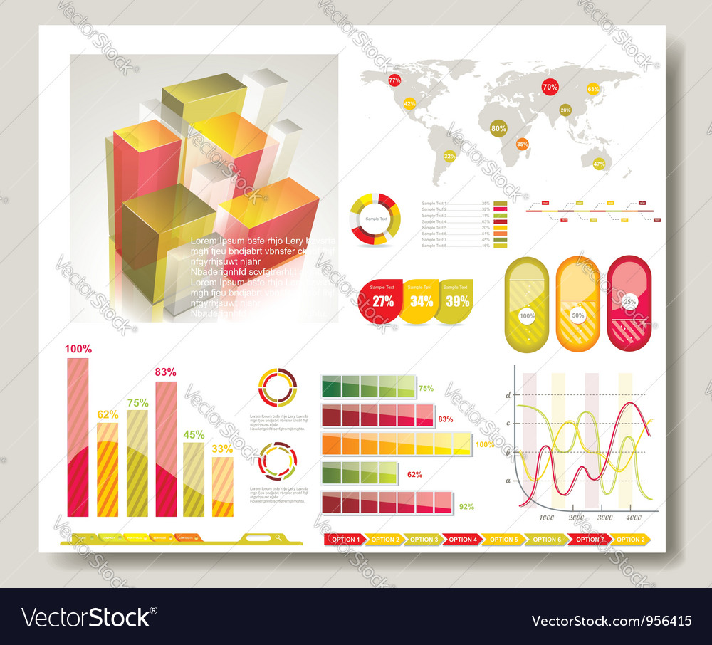 Map and graphs vector