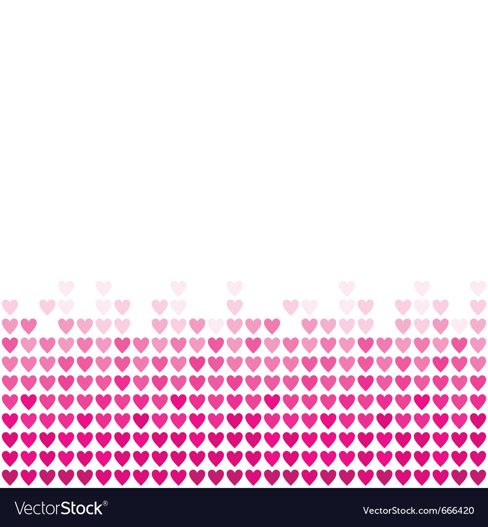 Pink hearts background vector