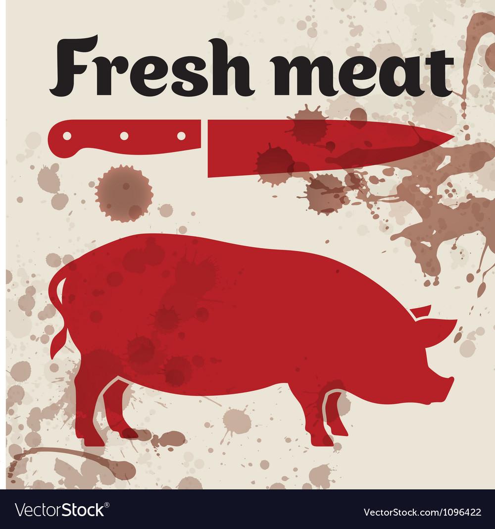 Fresh meat vector