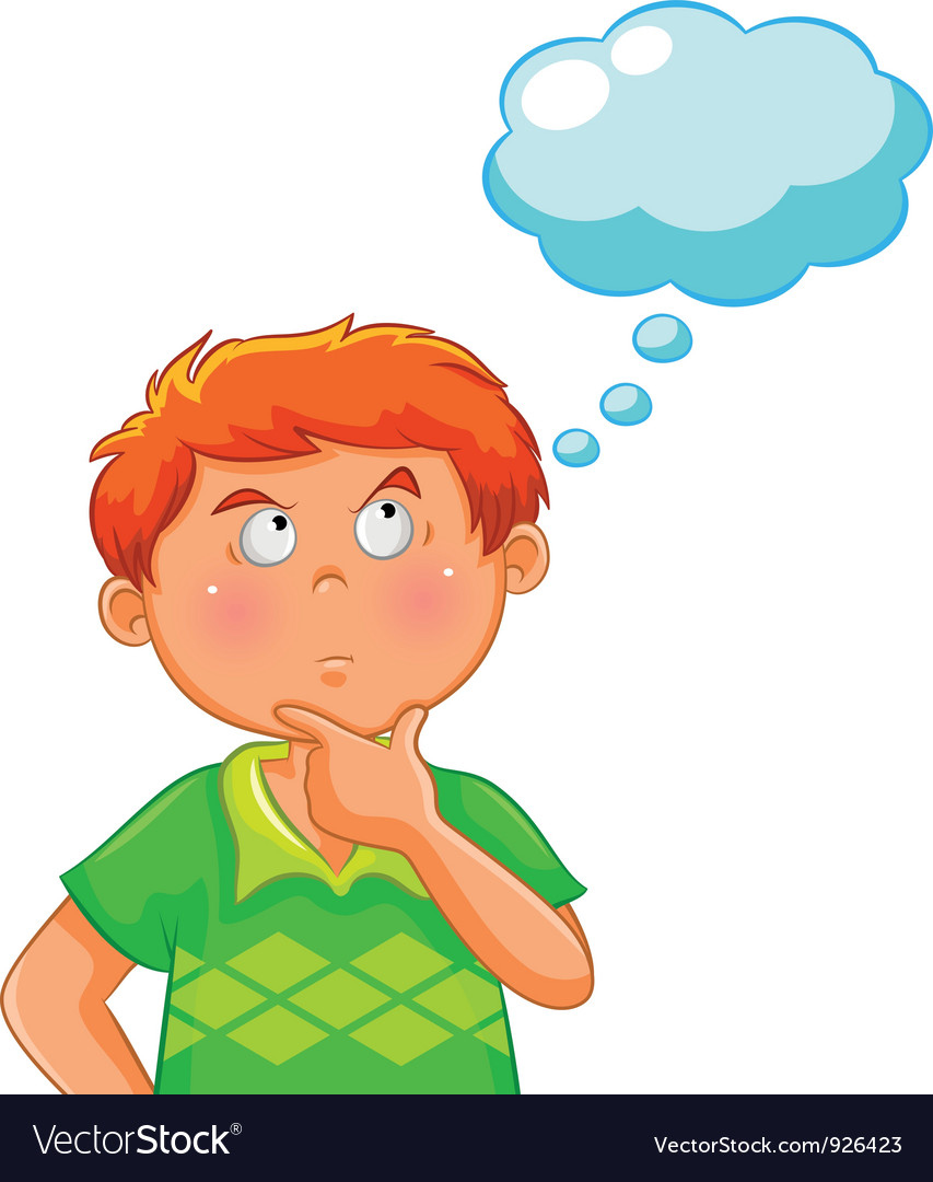 Child Thinking Clip Art Images & Pictures - Becuo