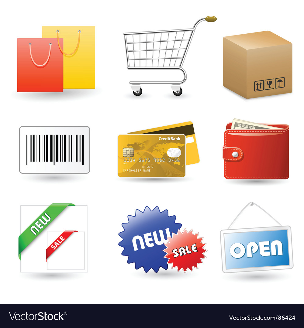Shop set vector