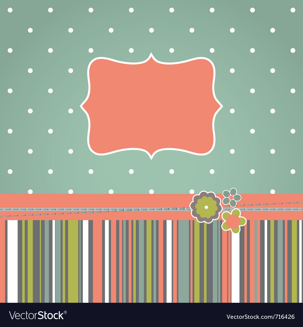 Greeting retro design card vector