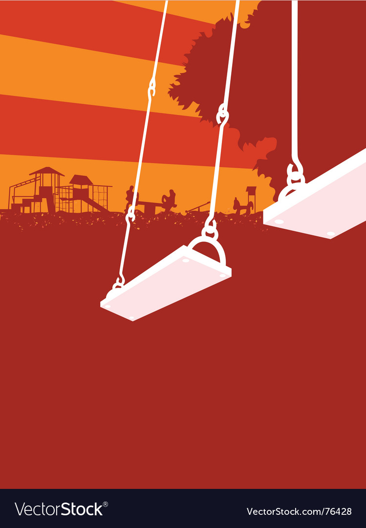 Playground sunset vector