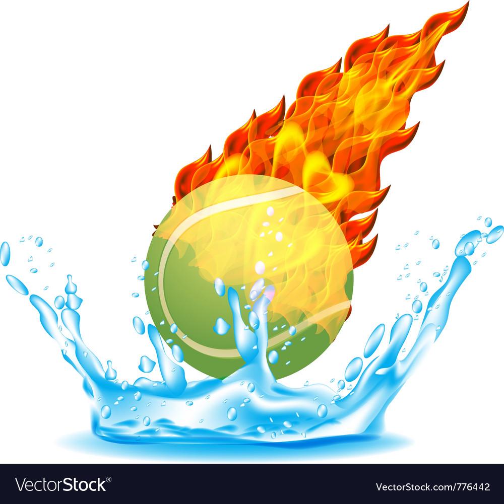 Tennisball vector